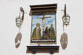 Katholischer Altar in der Altstadt von Cádiz, Provinz Cádiz, Costa de la Luz, Andalusien, Spanien, Europa