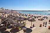 Strand La Caleta in der Altstadt von Cádiz, Provinz Cádiz, Andalusien, Costa de la Luz, Spanien, Europa