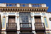 Historical houses in Jerez de la Frontera, Cadiz Province, Costa de la Luz, Andalusia, Spain, Europe