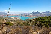 Barrier lakes Embalses Guadalhorce-Guadalteba, Sierra de las Nieves, Malaga Province, Andalusia, Spain, Europe