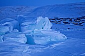frozen ice formations in the ocean at Qaanaaq, Northwest Greenland, Greenland