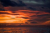 Impressive evening clouds above the sea near Havana, Cuba
