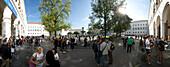 Students at Geschwister-Scholl-Platz (Siblings Scholl Plaza), Ludwig Maximilian University, Munich, Bavaria, Germany