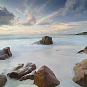 Morning light at Grand Anse beach, La Digue Island, Seychelles