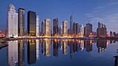 Skyscrapers, Mohammed Ibrahim Tower, Jumeirah Lakes Towers, Dubai, Unites Arab Emirates, UAE