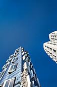 Frank Gehry buildings, Neuer Zollhof, Media harbour, Duesseldorf, North Rhine Westphalia, Germany