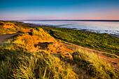 Morsum Kliff im Abendlicht, Morsum, Sylt, Nordfriesland, Schleswig-Holstein, Deutschland