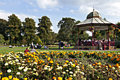 Music in Victoria Park, Newbury, West Berkshire, England, United Kingdom