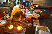 Street food. Typical gastronomy.  Old City Hanoi Vietnam.