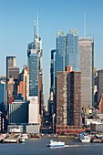 42th Street, Midtown Manhattan skyline across Hudson River from New Jersey, New York City, USA
