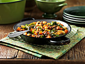Mediterranean bean and vegetable salad