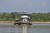 South America Brazil,Amazonas state,Manaus,Amazon river basin,Boat on the Purus river.