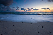 Norre_Vorupor, Denmark, Jutland, coast, beach, seashore, sea, clouds, dusk