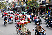 Vietnam, Asia, Far East, Hanoi, town, city, street, traffic, motorcycles, motorbikes, waste gases, environmental pollution, people, people, travel, place of interest, landmark
