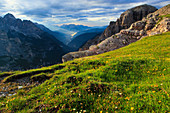 Ansiei_Tal, Aussicht von Auronzohütte, Dolomiten, Südtirol, Italien