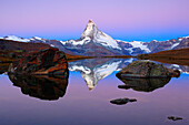 Alps, Alpine panorama, view, mountains, mountain panorama, mountain lake, peak, blue hour, dusk, twilight, cliff, rock, Fluhalp, mountains, summit, peak, autumn, scenery, Matterhorn, Mattertal, morning, daybreak, nature, silence, Switzerland, Swiss Alps,