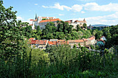 Germany, Europe, Saxony, Bautzen, view, from, Protschenberg, trees, buildings, constructions, scenery, places, panorama, plants, castles,