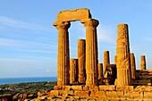 Italy, Sicily, Agrigento, World Heritage Site, Valley of Temples, Tempio di Giunone Temple of Juno