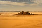 Desolate landscape in Oued Tin Tarabine. Tassili Ahaggar. Sahara desert. Algeria.