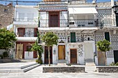 pyrgi village, island of chios, north east aegean sea, greece, europe