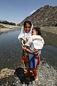 dried up kabul river, kabul, Afghanistan