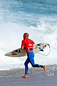 Kelly Slater, nine times winner of the surfing world champions, Hossegor, South West Cost, France