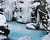 Barnafossar waterfalls in Borgarfjordur, Iceland, Barnafossar appears in many Icelandic folk tales