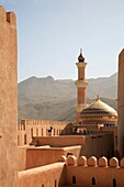 Oman, Al-Dakhiliyah, Nizwa, fort, mosque