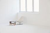 Modern design furniture in a white room