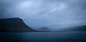 Cloudy sea coast, Westfjords, Iceland