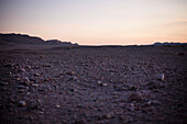 Evening atmosphere in the desert, Machtesch Ramon, Negev Desert, Israel
