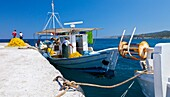 Skala Kamirou Harbour, West Coast, Rhodes Island, The Dodecanese Archipelago, Greece, Europe.