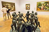 Australia, Victoria, Melbourne, Southbank, St. Kilda Road, National Gallery of Victoria, art, museum, Dancing Children, bronze, sculpture.