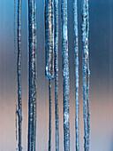 Ice, icicle, blue, Hamburg, Germany, cold