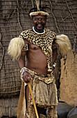 Zulu Folk, Zulu Warrior, Shakaland Kraal, Zululand, Kwa_Zulu_Natal, South_Africa, Africa, man