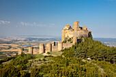 Spain, Europe, Aragon, Region, Loarre, Castle, beautiful, castle, colourful, curious, huge, landscape, mountain, Pyrenees, remote, rocks