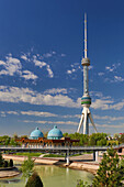 Tashkent, City, Tashkent, TV, television, Uzbekistan, Central Asia, Asia, architecture, blue, communication, domes, observatory, park, skyline, tall, television, touristic, tower, travel