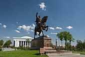 Amir Timur, Building, Tashkent, Uzbekistan, Central Asia, Asia, architecture, center, city, congress, downtown, government, history, horse, monument, square, tamerlan, tamerlane, touristic, travel