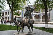 Bukhara, Hoja Nasruddin, Sofi tales, Uzbekistan, Central Asia, Asia, city, colourful, famous, monument, silk road, statue, touristic, tradition, travel, unesco
