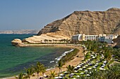 The Al Jissah Beach facing the Gulf of Oman near Muscat, Oman