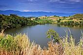 Crater lake, Bigodi Wetland Sanctuary, Uganda, East Africa