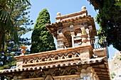 A building in Trevelyan Public Gardens, Villa Comunale, Via Bagnoli Croce, Taormina, Sicily, Italy