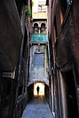 Typical lane in the city of Venice