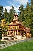 Jaszczurowka-antique wooden church in Zakopane, Podhale region, Poland, Europe