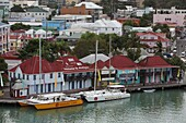 Seaport of the island of Antigua in the Caribbean Sea