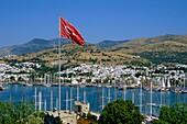 Turkey, Bodrum, harbour, general panoramic view