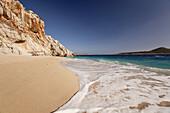 Waves at Kaputas beach, between Kalkan and Kas, Antalya Region, Turkish Riviera, Turkey, Europe.