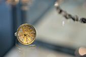 Goldsmith turning gold into jewellery, handcraft, Ueberlingen, Lake Constance, Baden-Wuerttemberg, Germany