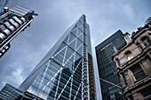 futuristic bank towers at London's Financial District, City of London, England, United Kingdom, Europe