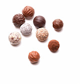 Different pralines and truffles, Confectionery